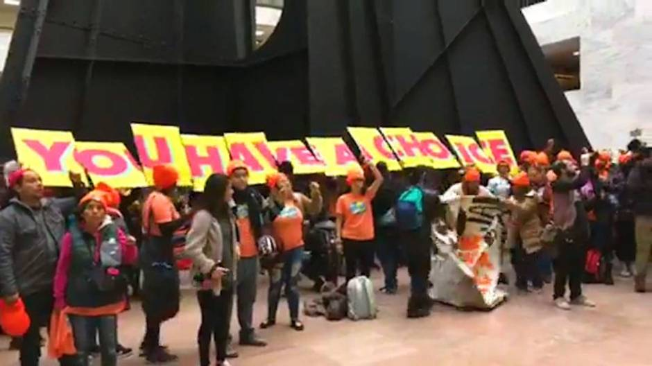 Immigrant activists flood Capitol Hill, demanding a clean DREAM act - 19 January