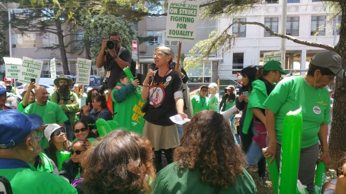 Lita addresses AFSCME Strike Support Rally at UCSF on 5:7