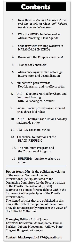 Black Republic Contents