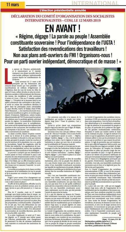 Algeria COSI 2