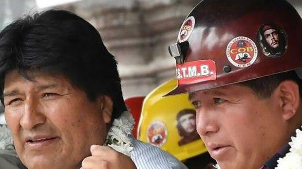 Bolivia Evo and Mineworker Leader