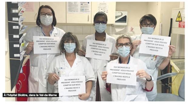 corona french hospital nurses